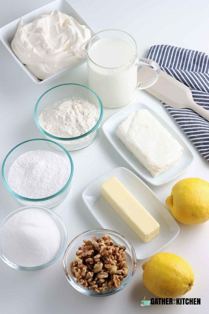 Ingredients to make lemon lush.